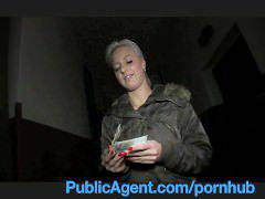 PublicAgent Cute Blonde fucks me in the shop cellar