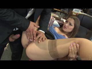 VideosZ: Dani Daniels – Office Job (classic sex, squirt, hairy pussy – softcore porn HD 720)