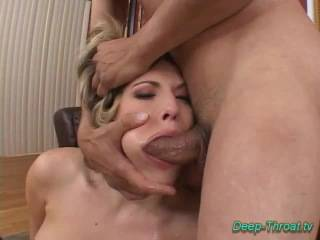 Extreme gagging and breast binding for mature hussy