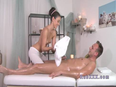 Bare dude gets nuru massage and fuck Blonde Slut