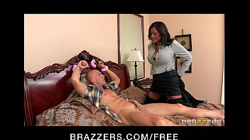 After Young Girls Leave, Handcuffed Johnny Is Alone For Horny Milf Maxine X